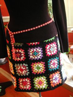 Afghan skirt!  Be still my heart!  My goal is to make this baby and wear it at Christmas.