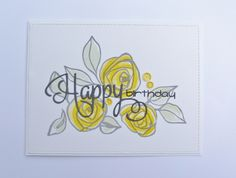 Altenew Bamboo Rose. Your Next Stamp Happy Everythings for diecut and words