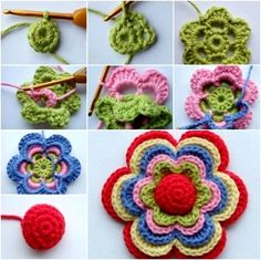 Para hacer flores de crochet....