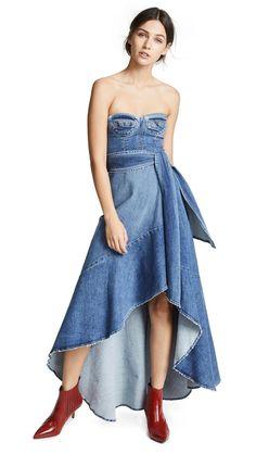 8ee641fe453 Jonathan Simkhai Classic Denim Bustier Dress Bustier Dress