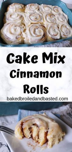 These cinnamon rolls are easy enough for a beginner baker but can fool an experienced baker. They are melt in your mouth good . Topped with a cream cheese frosting they are perfect for breakfast. desserts with cake mix Cake Mix Cinnamon Rolls Brunch Recipes, Breakfast Recipes, Dessert Recipes, Brunch Ideas, Fall Recipes, Delicious Desserts, Easy Desserts, Vegetarian Cake, Cake Mix Recipes