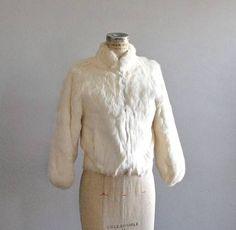 cropped white fur coat vintage