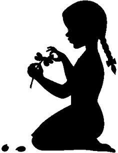 Картинки с силуэтами девушек и детей.. Обсуждение на LiveInternet - Российский Сервис Онлайн-Дневников