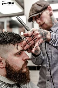 Pomade Hairstyling at Barber Shop