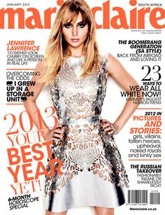 fc8f4061a9 Oscar winner Jennifer Lawrence looks edgy on the cover of Marie Claire with  her deep base