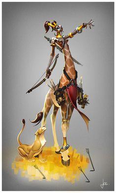 Savanna Centaur, Jocelyn Millet on ArtStation at https://www.artstation.com/artwork/4P59n