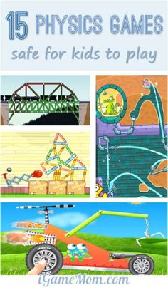 Many game apps are fun but not safe for kids to play. These physics games are safe for kids to play, educational and fun STEM games for kids. Science Activities For Kids, Science Experiments Kids, Stem Activities, Learn Science, Science Fun, Physical Science, Science Lessons, Preschool Age, Ipad