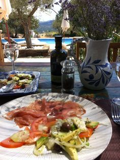 Fresh local ingredients for 'light lunch' at Casavida, Algarve Portugal.
