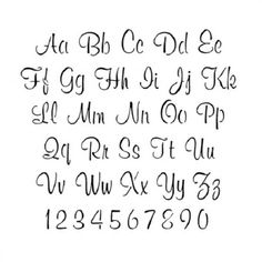 Printable Cursive Letters And Numbers