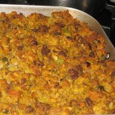 Cornbread Stuffing With Sausage Allrecipes.com - I make this every year. It's always a favorite. I use the Jimmy Dean sausage with sage in it already and omit the sage.