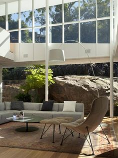 Outside in. Skirt + Rock House. MCK Architects. Rock. Inside out. Nature.