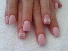 baby pink powder with 3D bow design