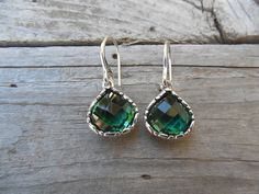 Beautiful deep green amethyst earring handmade in by Billyrebs
