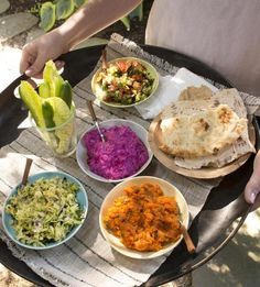 A spread of Greek and Middle Eastern dishes makes a great summer meal.