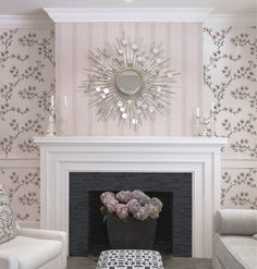 Meredith Heron wall covering in a lovely ethereal color.
