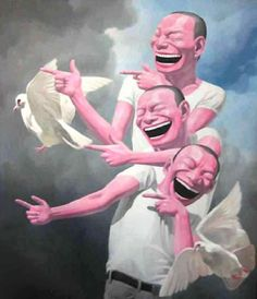 yue minjun paintings - Google Search