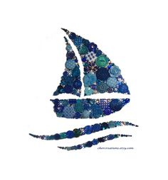 FAIR SAILING 8x10 Button Art Button Artwork beach от CherCreations