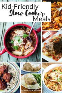 Need some kid-friendly slow cooker meals for busy weeknights? This collection of slow cooker recipes are perfect for putting a healthy dinner on the table when you don't have a lot of time, and are kid-friendly dinners for picky eaters of the family. #slowcookerdinners #crockpotdinner #easydinnerideas #kidfriendlyslowcookermeals