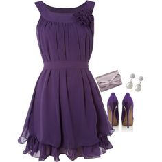 love the purple-This would be a great date or fancy Girl's night out look.