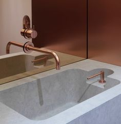 Vola in cooper. resurgence of metal finishes such as cooper, brass and bronze