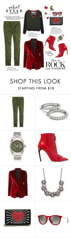 """""""Crushing on Velvet"""" by shortyluv718 ❤ liked on Polyvore featuring J.Crew, Alexander McQueen, Tagliatore, Aéropostale, Les Petits Joueurs, Ray-Ban and velvet"""