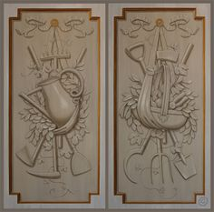 TROMPE L'OEIL PANELS -  GARDEN TROPHY COLLECTION 2'X4' EACH by Joseph Steiert