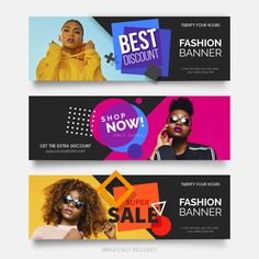 Fashion banner vectors and photos - free graphic resources Design Café, Design Logo, Vintage Grunge, Banner Vector, Banner Template, Banner Vertical, Banner Design Inspiration, Fashion Banner, Free Banner