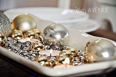 Jingle Bells candle centerpiece
