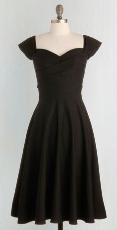 Stop Staring! Pine All Mine Dress in Noir