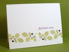 Simplicity: Feel Better Soon and Tips on Stamping with Clear Stamps