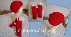Io adoro il rosso quindi ho deciso di realizzare questo completo cappello e guanti senza dita. Per chi li volesse fare metto le istruzion...
