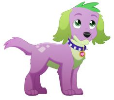 Doggy Spike Is Just The Cutest Widdle Thing Woah This Actually First Time Ive Drawn A Mlp Character In Different Style Than Shows