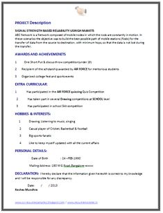 Cv Resume 100  Resume Format For Experienced Sample Template Example Of