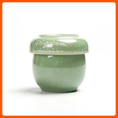Dehua Porcelain Single Ceramic Cup with Tea Infuser and Lid, Green - Kitchen gadgets (*Amazon Partner-Link)