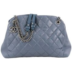 Chanel Aged Chain Mademoiselle Bowling Bag Quilted Aged Calfskin Large