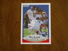 Raul Allegre New York Giants Placekicker Card No. 61 (FB61) 1990 Fleer Football Card - for sale at Wenzel Thrifty Nickel ecrater store