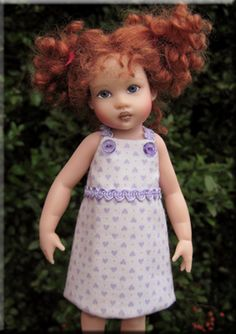 "FREE by Silkspike Dolls: 7.5"" Riley Kish A-Line Dress Pattern and Tutorial. This dress is easy-peasy to make - even for beginners!"
