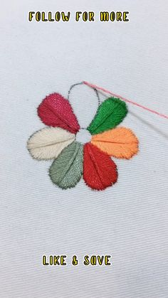 Hand Embroidery Patterns Flowers, Basic Embroidery Stitches, Hand Embroidery Videos, Embroidery Stitches Tutorial, Simple Embroidery, Learn Embroidery, Hand Embroidery Stitches, Hand Embroidery Designs, Embroidery Techniques