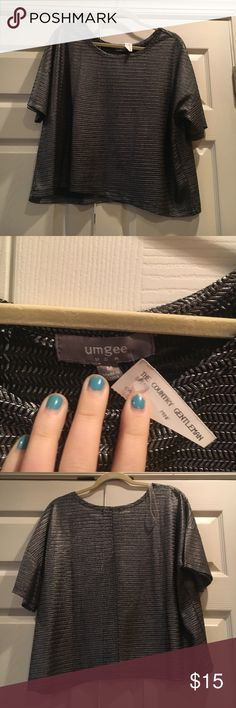 Medium grey top Gray umgee top. Never been worn new with tags. Bundle and save! umgee Tops