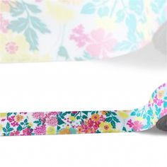 Multi Color Floral in Pink and Teal Paper Washi Tape by Love My Tapes, 15mm x 10m