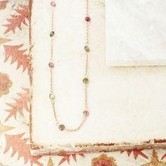 Sweetie Shorter Length Station Necklace - precious gemstones