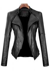 Artificial Leather Black Jacket