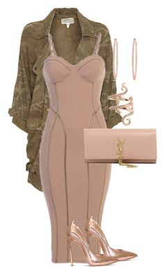 """""""Styled by Candice"""" by candicegeorge on Polyvore featuring Current/Elliott, Casadei, Effy Jewelry, Yves Saint Laurent and Elise Dray"""