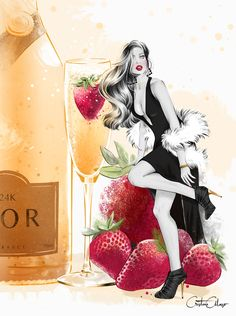 'Champagne & Strawberries' by © Cristina Alonso