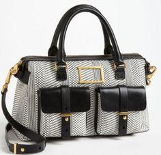 by marc jacobs werdie weavy faux leather satchel