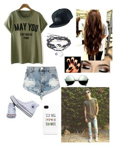 """Sugg."" by xtrulyjessie ❤ liked on Polyvore featuring OneTeaspoon, Converse, Revo and NIKE"