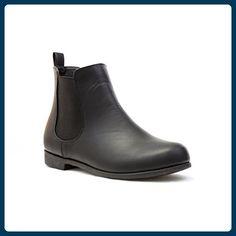 47ec616ed933f5 Lilley Damen Schwarz Chelsea-Stiefel mit niedrigem Absatz - Größe 7 UK    40.5 EU