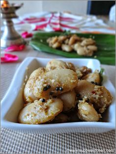 """""""Mochai Payiru (Butter Beans) Sundal is another variety of Naivedhyam dish we do for Navratri on Day 5. Mochai is rich in Proteins and it is a very good source of cholesterol-lowering fiber. Very simple dish and delicious too""""! Read more here: http://www.subbuskitchen.com/2013/10/mochai-payiru-sundal-butter-beans-sundal.html?utm_source=feedburner&utm_medium=email&utm_campaign=Feed%3A+SubbusKitchen+%28Subbus+Kitchen%29#.UlXQ4dKmYhs"""