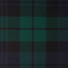 BLACK WATCH GL007 100% Wool 10.5oz Tartan. Woven in Yorkshire by Marton Mills. Wool Fabric, Design Show, Yorkshire, Tartan, Swatch, Weaving, Fabrics, Pure Products, Color