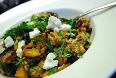 Roasted Eggplant and Goat Cheese Salad Recipe – 4 Points + - LaaLoosh